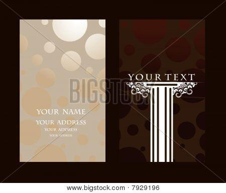Vector conjunto de tarjeta de visita, para más tarjetas de este tipo, por favor visite mi Galería