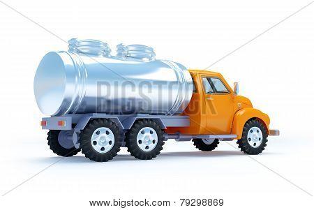 cartoon tanker truck back