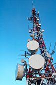 Telecomunications antennas tower poster