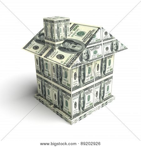 House From The Money. Construction Concept