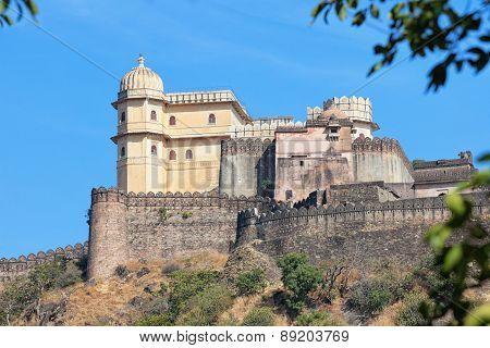 Inspiring View Of Kumbhalgarh Fortress Near Udaipur, India