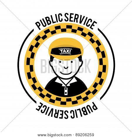 Taxi design over white background vector illustration