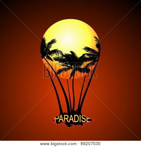 Paradise Balloon. Vector