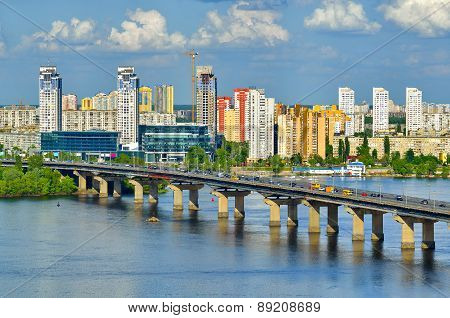 Paton Bridge On A Dnieper River