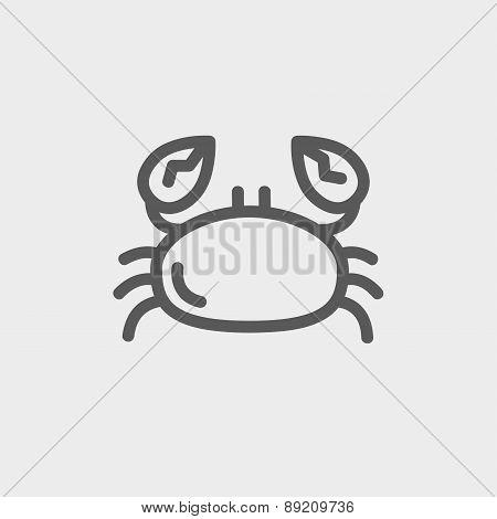 Crab thin line icon