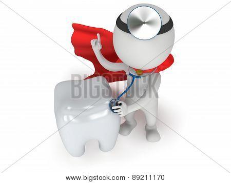 Superhero Doctor Checkup Healthy Tooth
