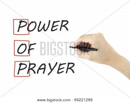 Power Of Prayer Written By Man's Hand