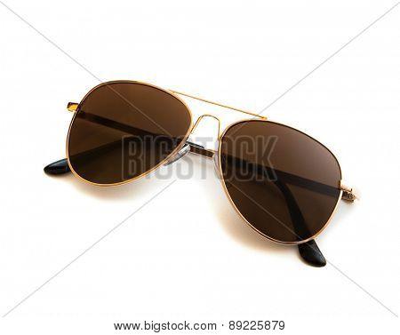 Aviator sunglasses isolated on white isolated
