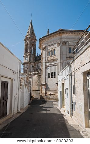 SS. Cosma e Damiano Basilica. Alberobello. Apulia.