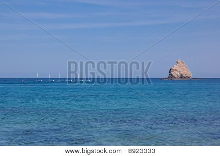 Scuba & Sailing near the small Mystic island