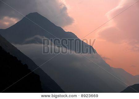 Tropical Mountain twilight