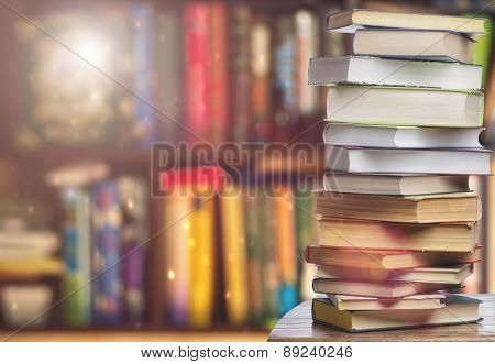 Bookshelf -background