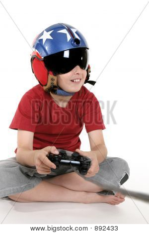 Child Playing Computer Games