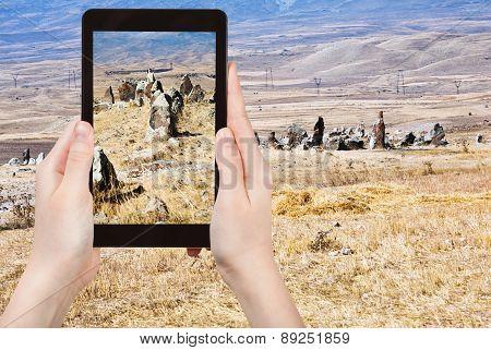 Photo Of Menhirs Zorats Karer Monument In Armenia
