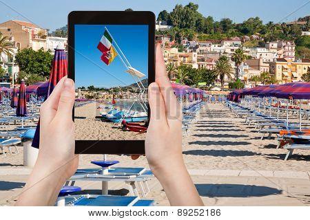 Photo Of Beach In Giardini Naxos, Sicily, Italy
