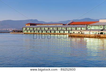 Modern Konak Pier Buildings. Izmir City, Turkey