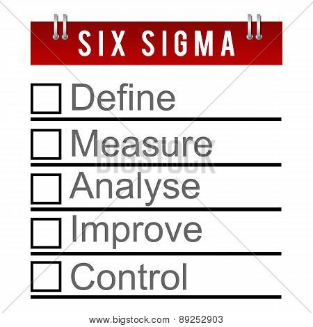 Six Sigma To Do Diary Style