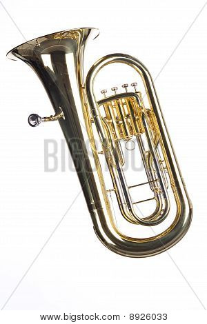 Tuba Euphonium Isolated On White