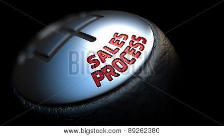 Sales Process on Black Gear Shifter.