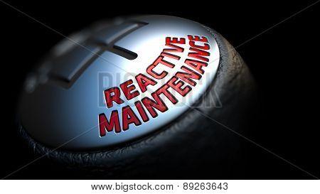 Reactive Maintenance on Car's Shift Knob.