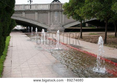 Turia City Park In Valencia, Spain
