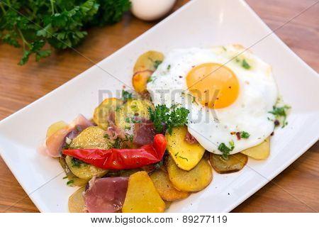 Roasted Potato And Egg, Huevos Rotos