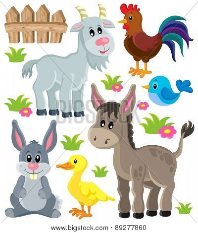 Farm animals set 3 - eps10 vector illustration.