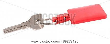 Dimple key with red key chain