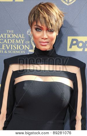 BURBANK - APR 26: Tyra Banks at the 42nd Daytime Emmy Awards Gala at Warner Bros. Studio on April 26, 2015 in Burbank, California