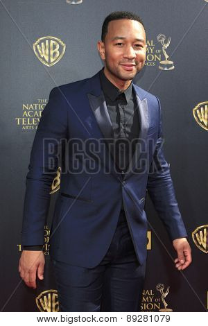 BURBANK - APR 26: John Legend at the 42nd Daytime Emmy Awards Gala at Warner Bros. Studio on April 26, 2015 in Burbank, California