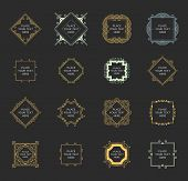 Set of Vintage Frames for Luxury Logos, Restaurant, Hotel, Boutique or Business Identity. Royalty, Heraldic Design with Flourishes Elegant Design Elements. Vector Illustration Templates. poster