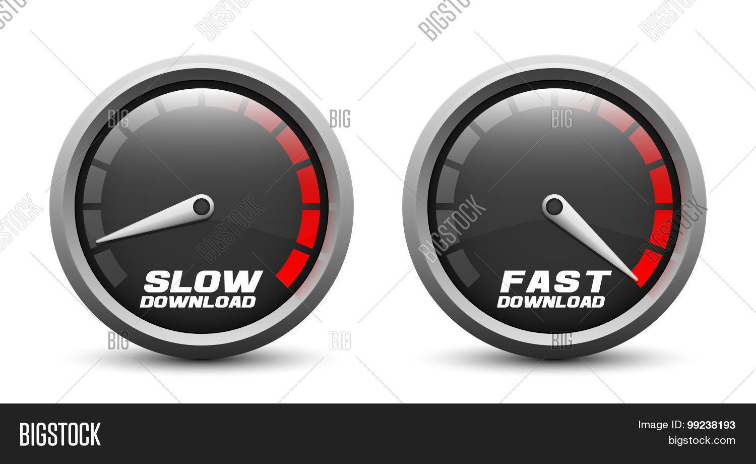 Slow Fast Download Vector & Photo (Free Trial) | Bigstock