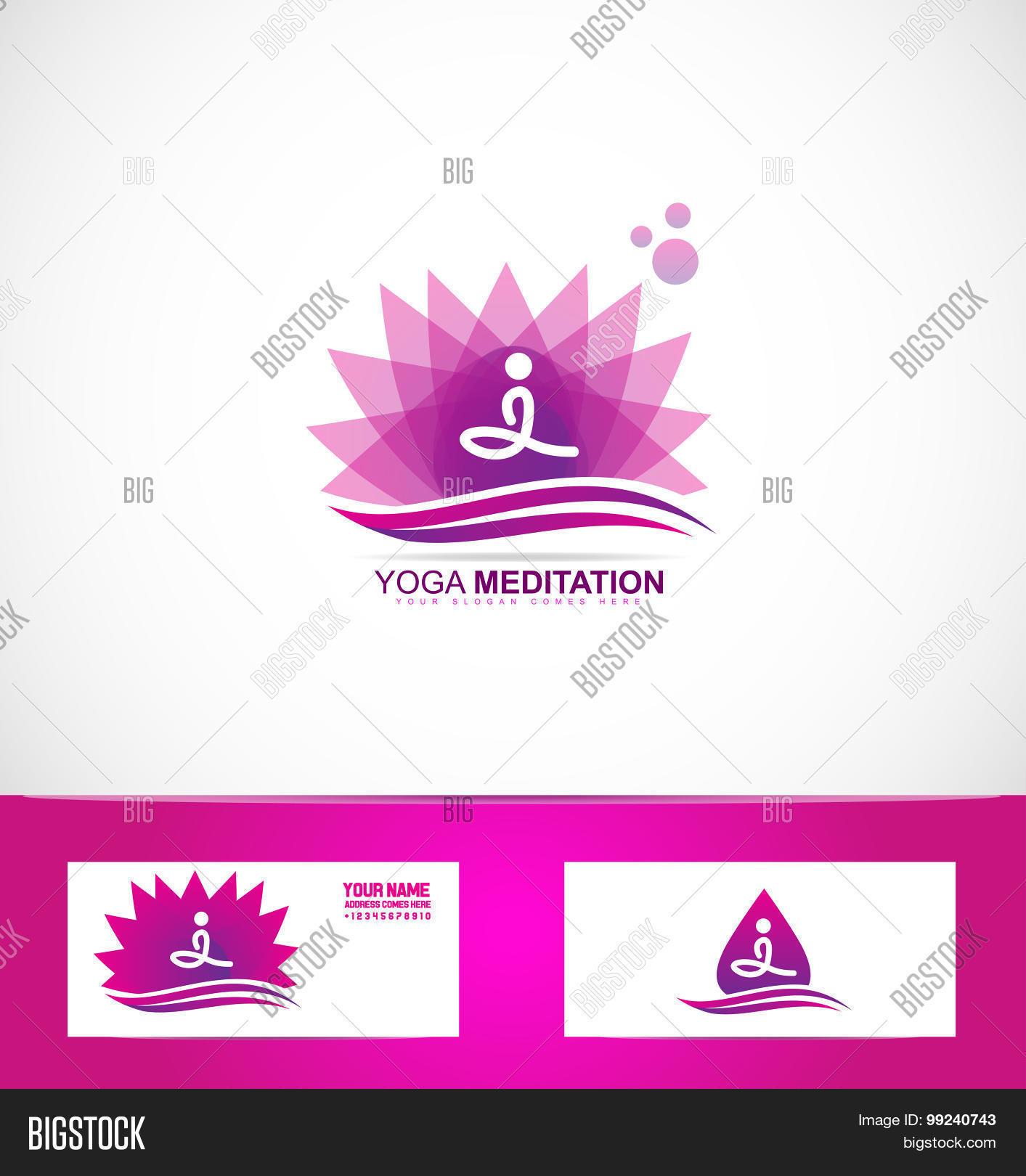 Yoga meditation lotus vector photo free trial bigstock yoga meditation lotus flower logo izmirmasajfo