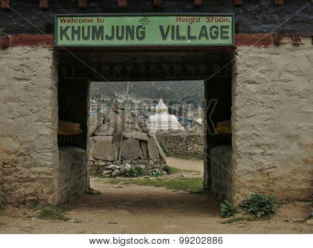 Entrance Of Khumjung