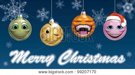 Smiling Christmas Balls