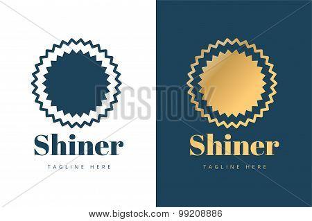 Abstarct sun logo icon template