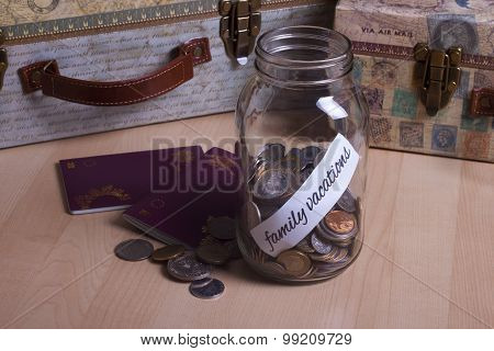 Cash Jar Filled For My Vacations