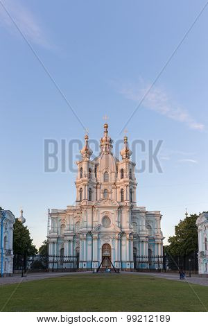 Smolny Cathedral In St.petersburg, Russia