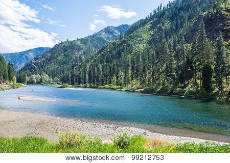 Mountain Forest River Landscape