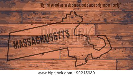 Massachusetts Map Brand