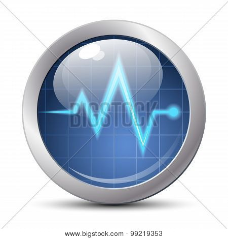 Diagnostic icon. Vector illustration on white background poster