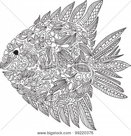 Abstract Composition With Fish