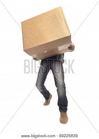 Carrying And Lifting Box - Stock Image