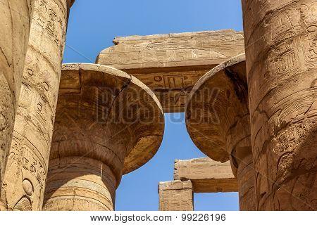 Capitel Of Temple Of Karnak
