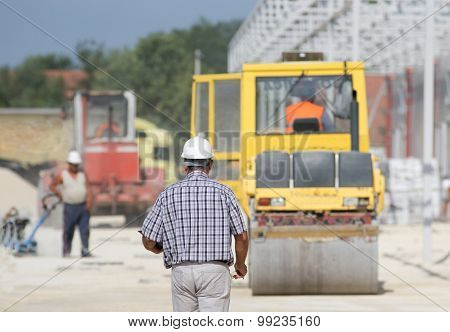 Supervisor At Building Site