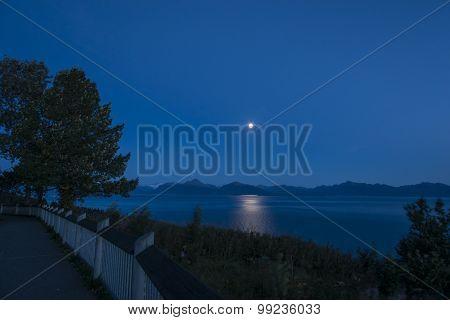 On the way to Homer, Alaska at night
