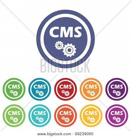 CMS settings signs colored set