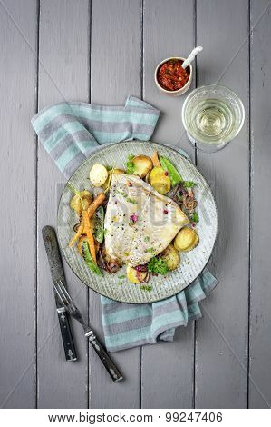 Codfish Fillet with Vegetable