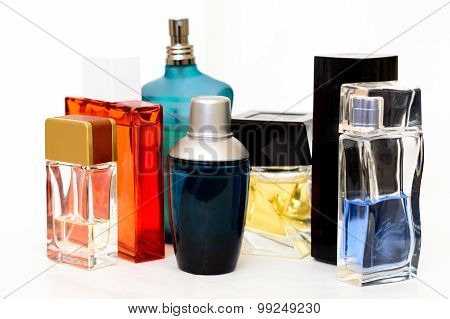 Collection Of Men's Aftershaves And Parfume Bottles