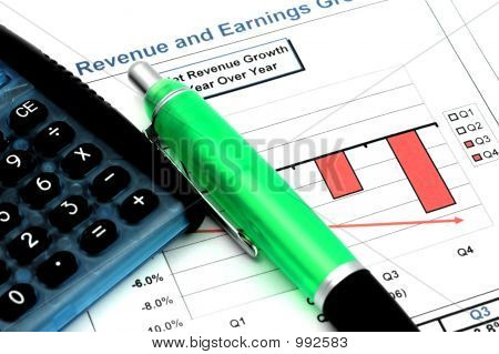 Close Up Of Business Report